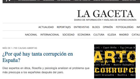 ¿Por qué hay tanta corrupción en España?