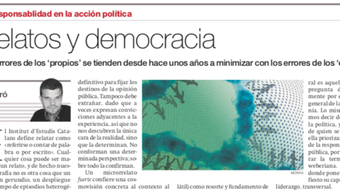 Relatos y democracia